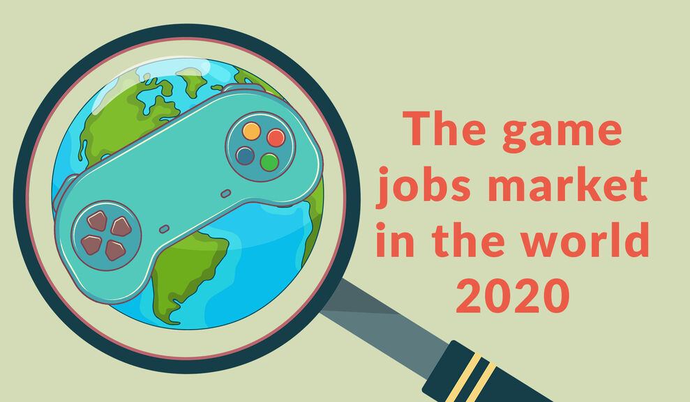 The game jobs market in the world 2020