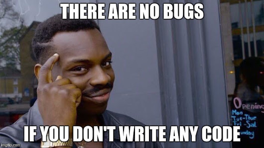 jira: there are no bugs if you don't write any code
